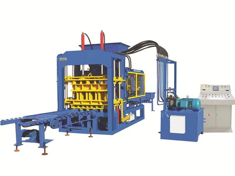 cement block molding machine